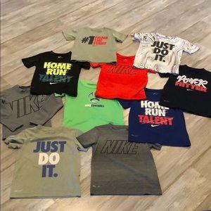 Bundle of boys 4T Nike Dri Fit shirts 👕